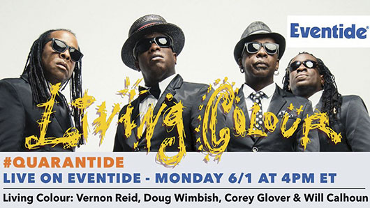 Living Colour, Live on Eventide - Monday January 1, 2020 at 4 PM ET