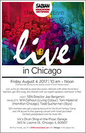 Sabian Education Network, Live in Chicago - Friday, August 4, 2017