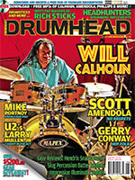 Will Calhoun on the cover of Drumhead magazine, August 2015 (Issue #50)