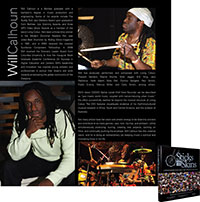 Photo of Will's page in Sticks 'n' Skins: A Photography Book About the World of Drumming.